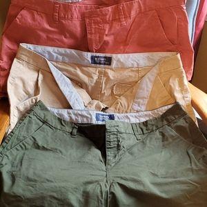 Three pairs Old Navy everyday shorts